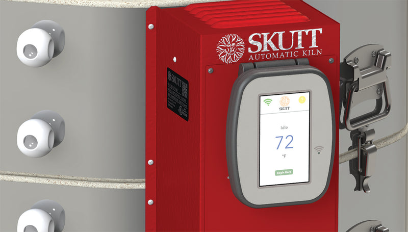 "Skutt KMT1027 Ceramic Kiln 2.5"" Brick with Digital Touchscreen KilnMaster Controller image 3"