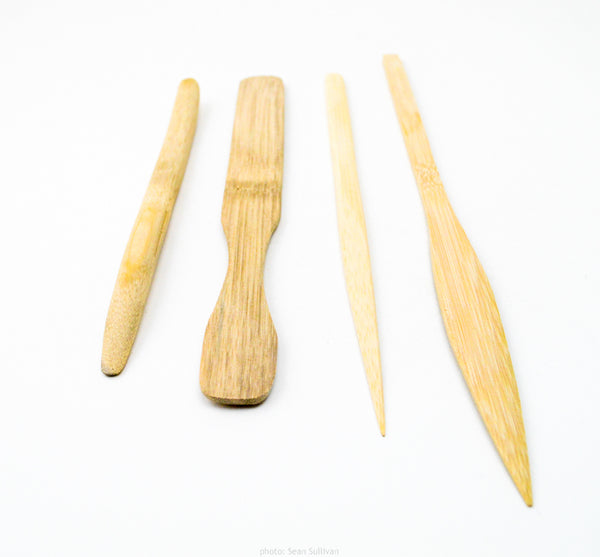 bigceramicstore-com,Set of 4 Bamboo Tools,Chinese Clay Art,Tools & Supplies