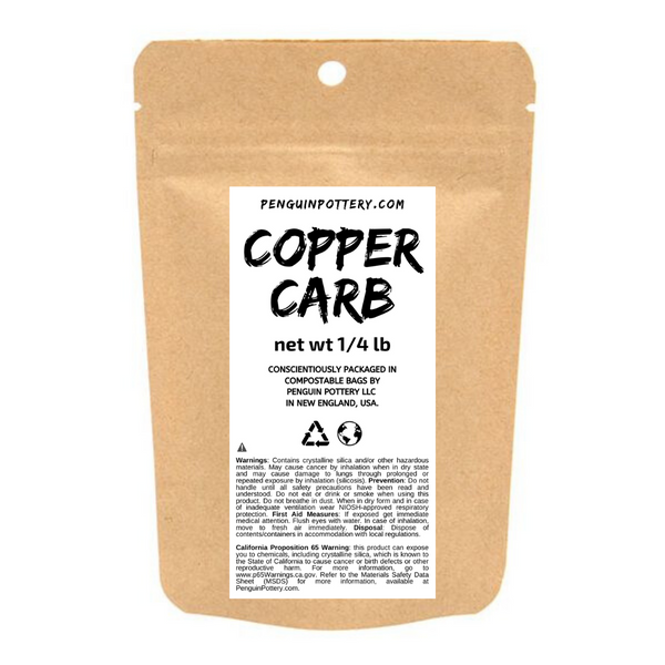 Penguin Pottery - Copper Carbonate - 1/4 lb Bag - Biodegradable Packaging