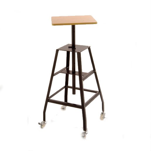 "bigceramicstore-com,CSI EX Heavy Duty Steel Sculpture Stand w/16"" x 16"" Wooden Top,Ceramic Supply Inc,Tools - Throwing"