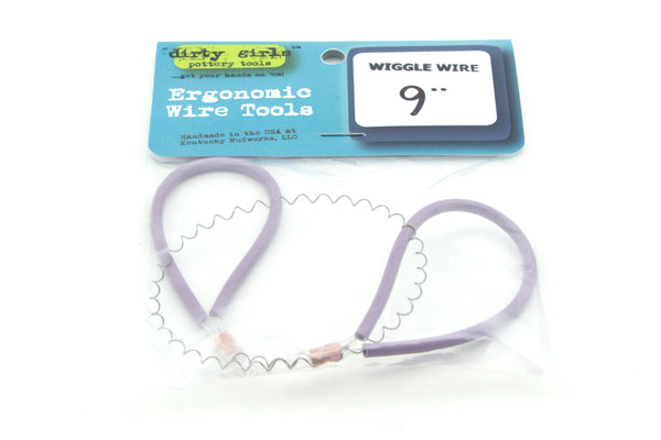 "bigceramicstore-com,Dirty Girls Lavender Handle 9"" Ergonomic Wiggle Wire,Dirty Girls,Tools & Supplies"