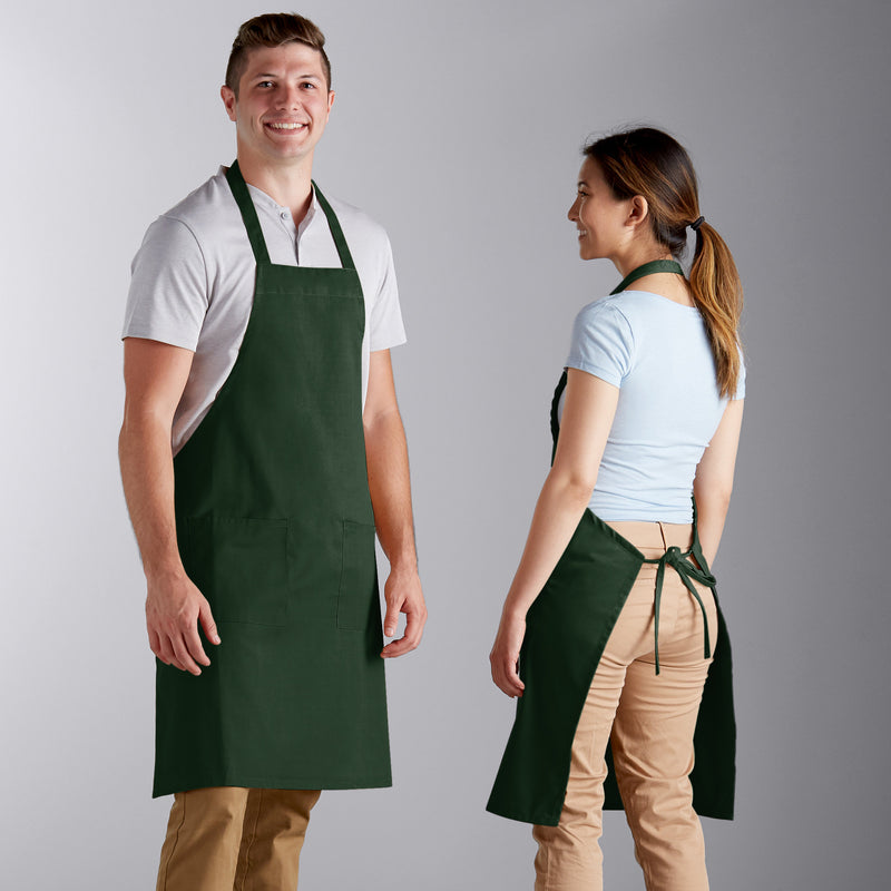 "Poly-Cotton Apron with 2 Pockets - 34""L x 32""W image 3"