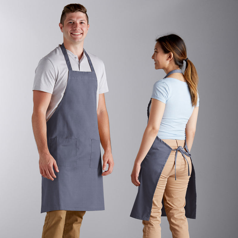 "Poly-Cotton Apron with 2 Pockets - 34""L x 32""W image 2"