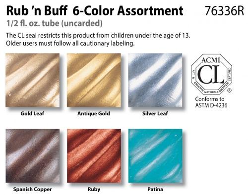 Amaco-Rub-'n-Buff-6-Color-Sampler