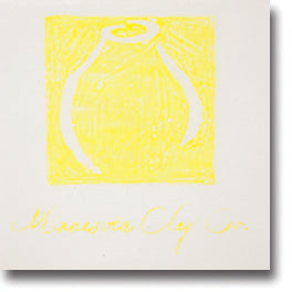Minnesota Clay Company - Graffito Underglaze Transfer Paper, 6 sheets Yellow image 1