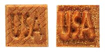 MKM Sss-148 Small Square Wood Stamp, USA image 1