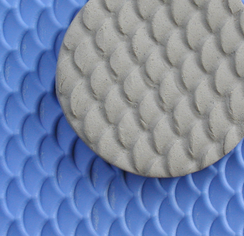 Chinese Clay Art USA Plastic Texture Mats, Dragon Scales Pattern image 1