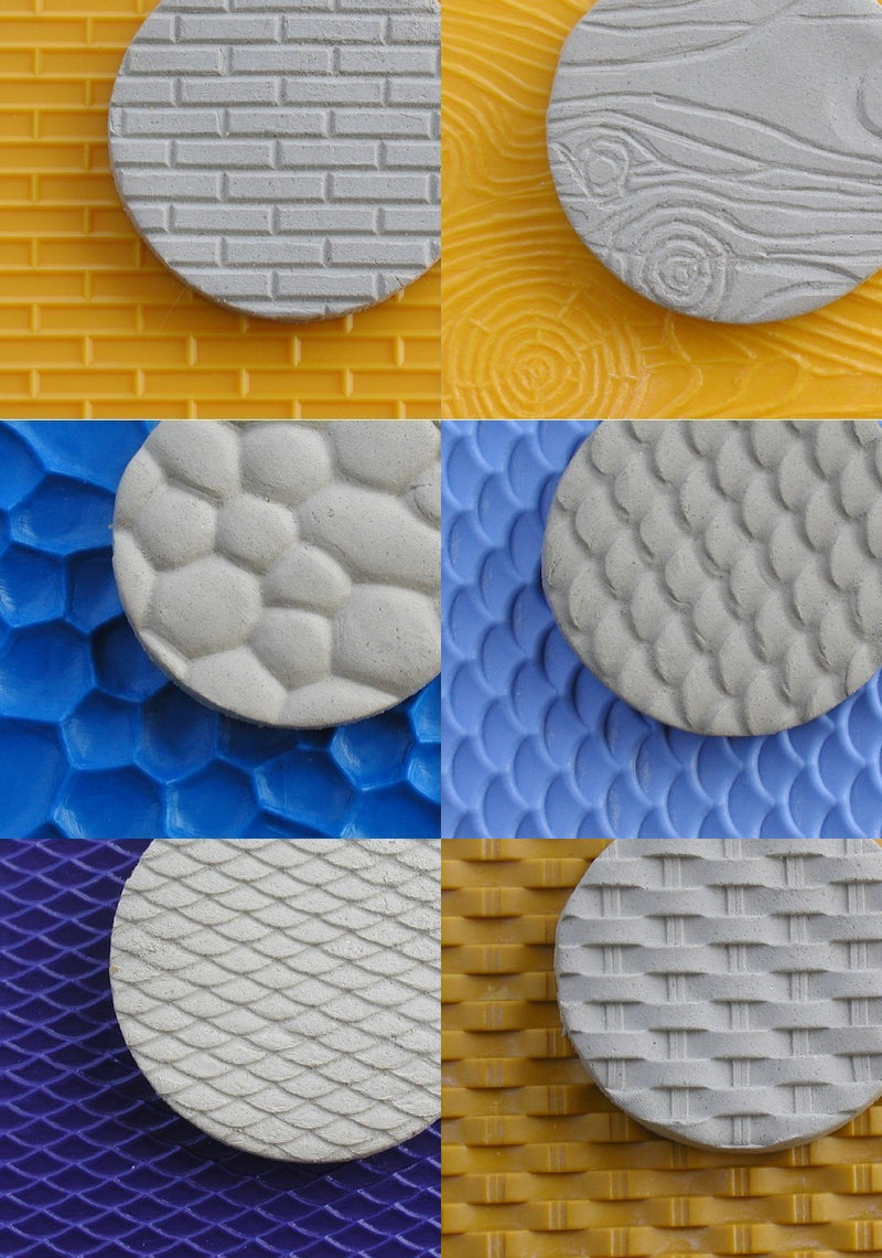 Chinese Clay Art USA Plastic Texture Mats, Dragon Scales Pattern image 2