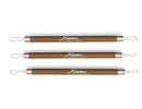 Xiem 3-Piece Stainless Steel Double-Ended Ribbon Tool Set (Brown) image 1