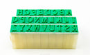 "Chinese Clay Art USA Letter Stamp 26/set, 1/2""- 5/8"" Tall image 4"
