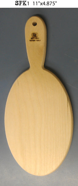 "bigceramicstore-com,Dirty Girls 11""x4.875"" Large Oval Paddle,Dirty Girls,Tools & Supplies"