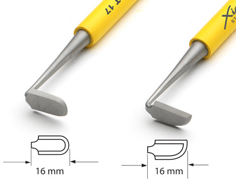 Xiem Trimming Tool Double Ended Set (Yellow Handle) image 2