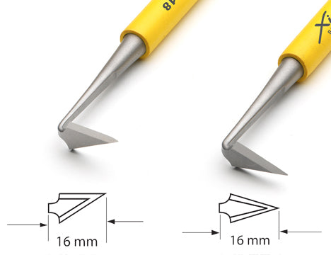 Xiem Trimming Tool Double Ended Set (Yellow Handle) image 3