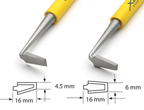 Xiem Trimming Tool Double Ended Set (Yellow Handle) image 4