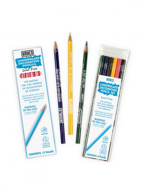 bigceramicstore-com,Amaco Yellow Underglaze Decorating Pencil,Amaco,Tools - Decorating