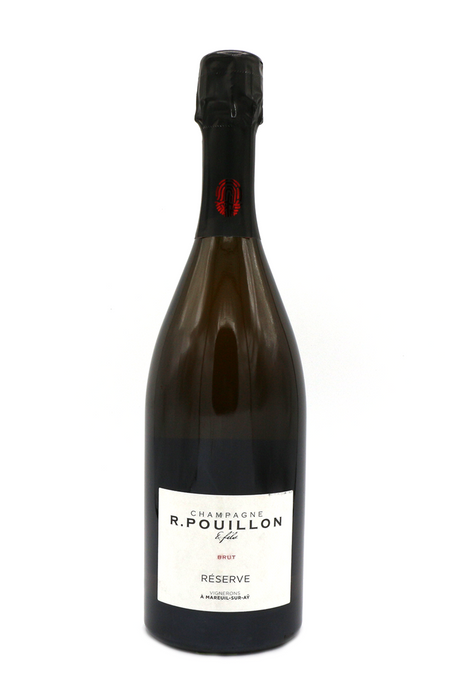 Pouillon, Brut, France, Mareuil-Sur-Ay, light-bodied, white wine, bubbles, bubbly, grower champagne, family winery, fried chicken, caviar, oysters, lobster tail, langoustines, shrimp criollo, mild cheese, party wine, date night, steamed clams, sashimi, grilled fish, boutique winery