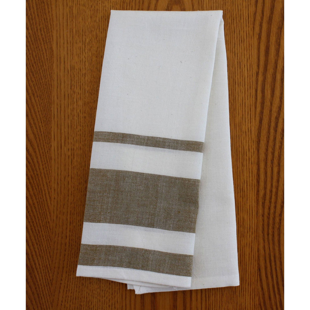 Set of 2 Cocoa Cotton Tea Towels - Sustainable Threads (L)