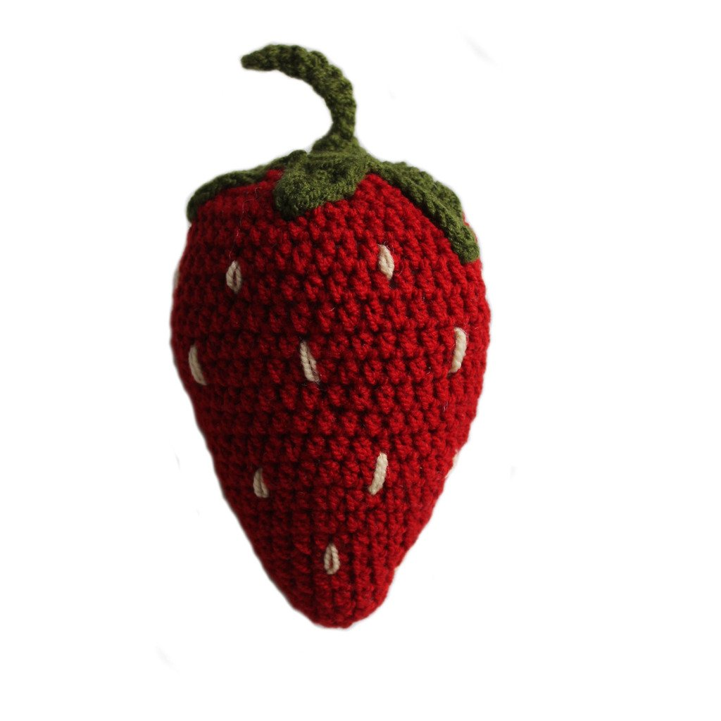 Knit Rattle Strawberry - Silk Road Bazaar