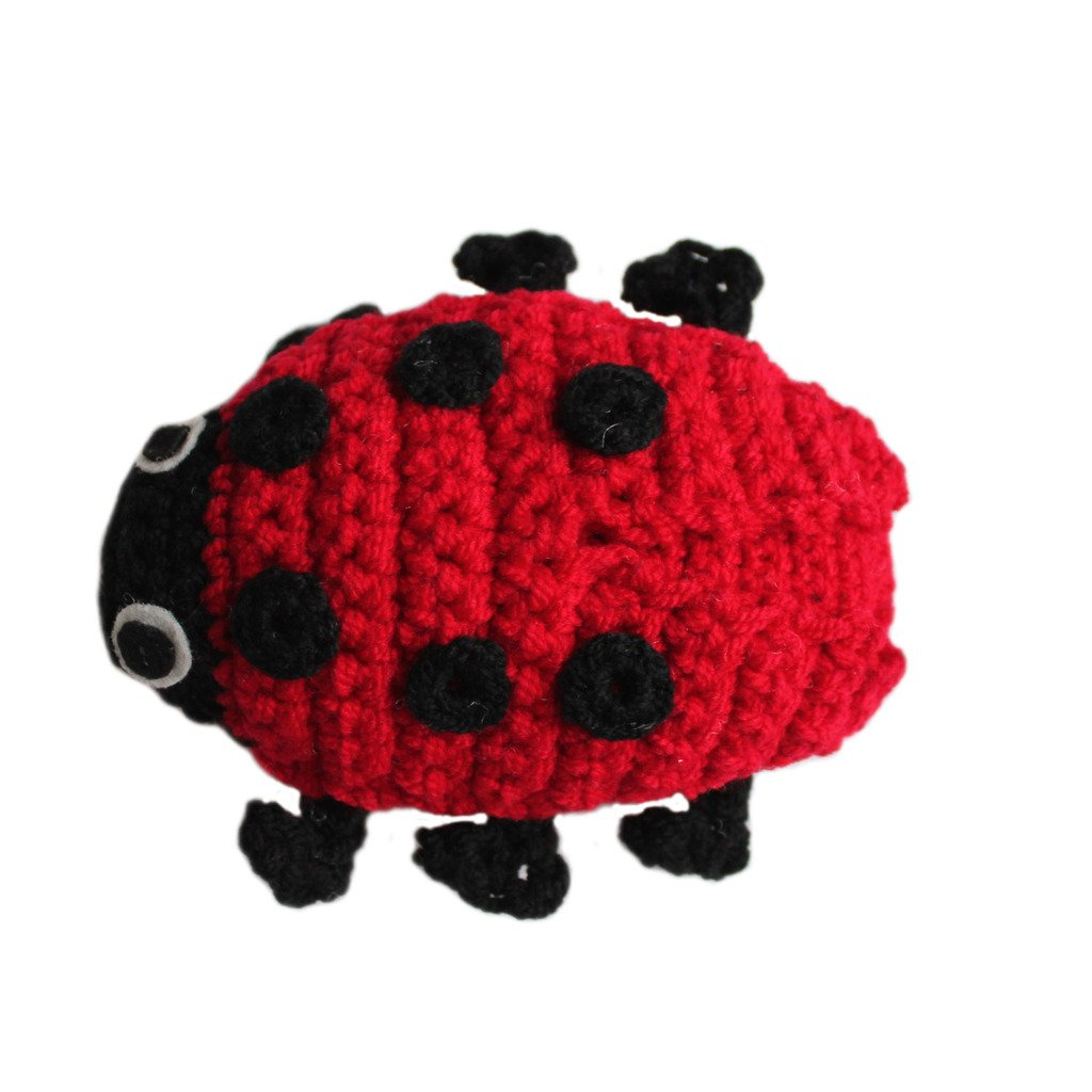 Knit Rattle Ladybug - Silk Road Bazaar