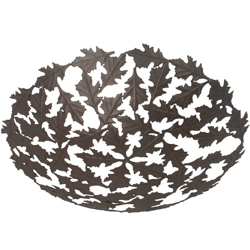 Recycled Metal Oak Leaf Bowl from India