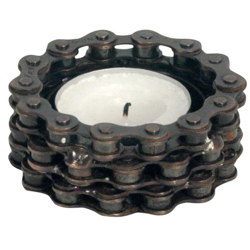 Bicycle Chain Tea Light Holder from India
