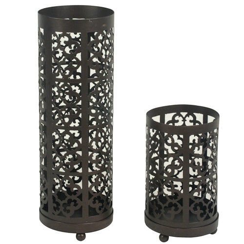 Set of Two Candle Lanterns from India