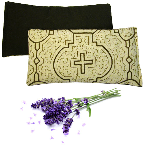 Shipibo Handmade Herbal Eye Pillow in Natural with Lavender, Flax, and other Aromatic Herbs