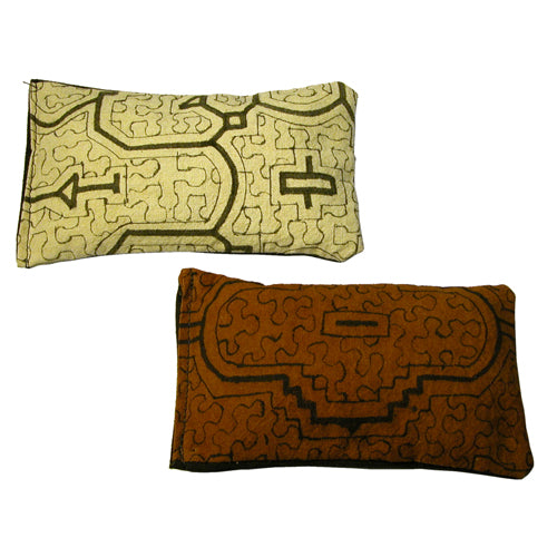 Shipibo Handmade Herbal Sachets in Natural and Rust with Lavender, Flax, and other Aromatic Herbs