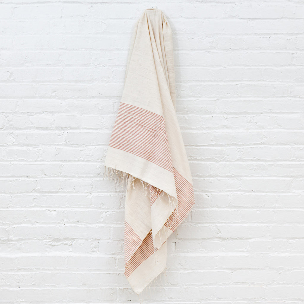 Ribbed Cotton Bath Towel