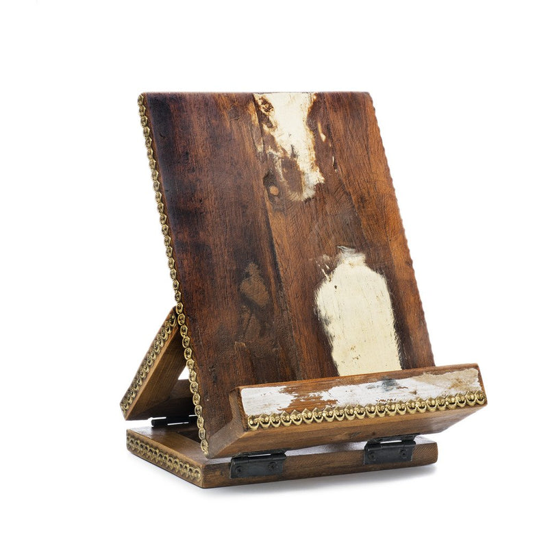 Reclaimed Wood Tablet and Book Stand - Matr Boomie (Display)