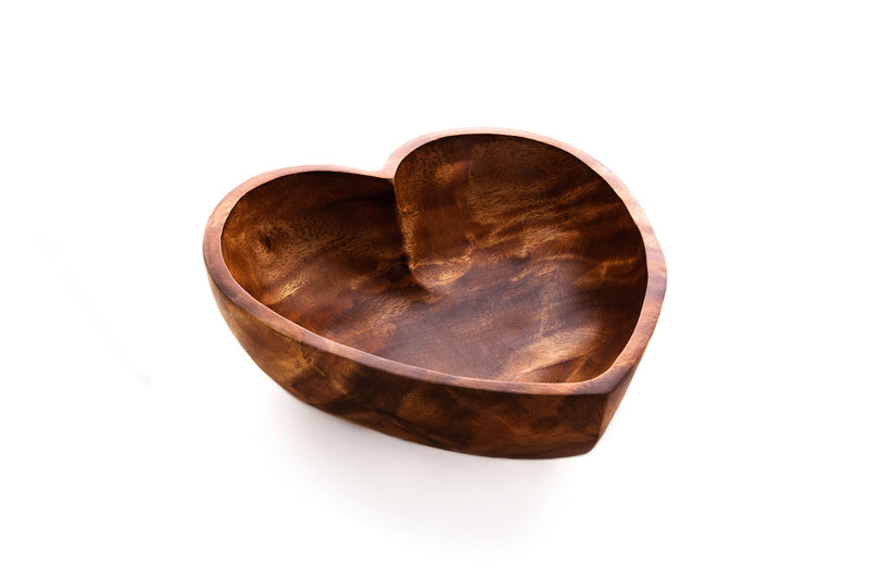 Handcarved Wood Heart Bowl