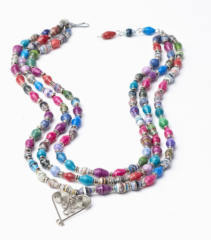 Healing Hearts Multi-strand Beaded Statement Necklace