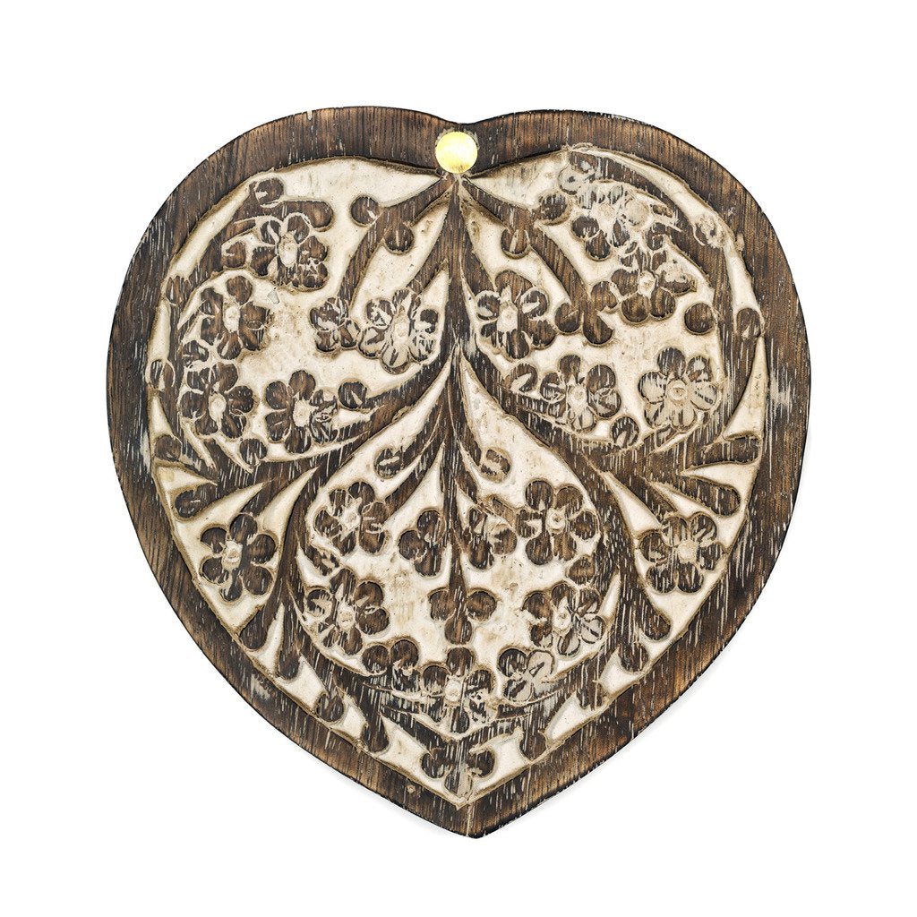 Antique finish Heart Shaped Box Matr Boomie
