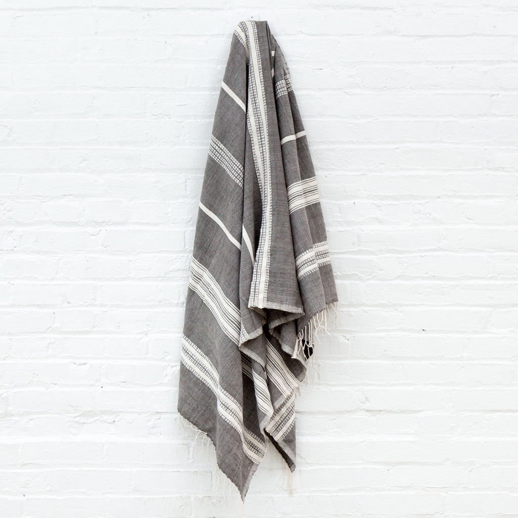 Cotton Striped Bath Towel