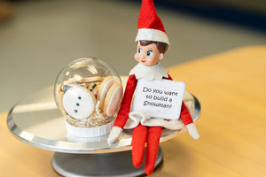 "Elf on the Shelf ""Do you want to build a snowman?"""