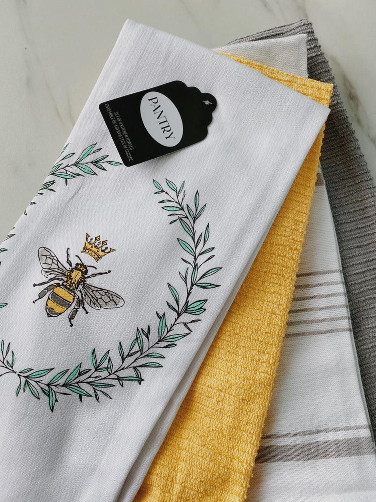 Load image into Gallery viewer, Bee Towel Set