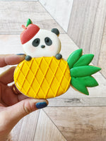 Sugar Devotion: Peeking Panda Pineapple with Hat