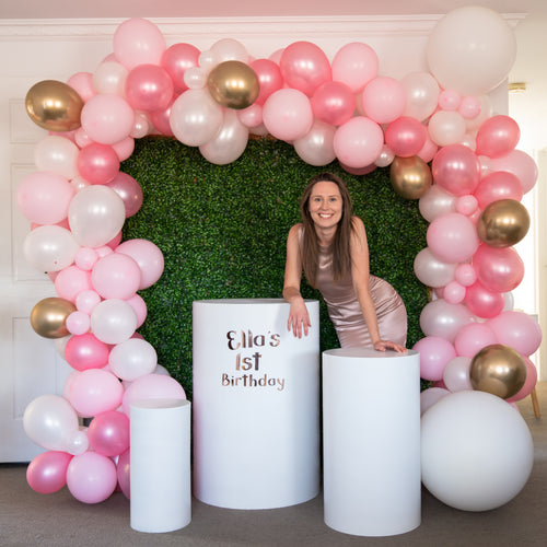 Greenery Wall, Plinths and Balloon Garland - Package