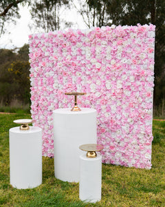 Flower Wall - Pink & White - Backdrop