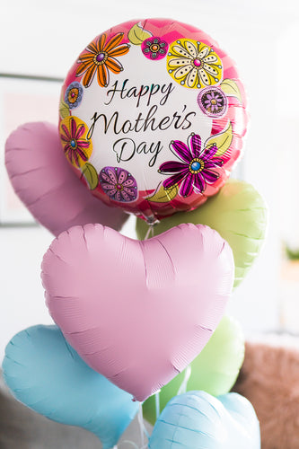 Mother's Day - Foil Helium Balloons Bouquet