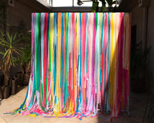 Rainbow Streamer Wall Backdrop