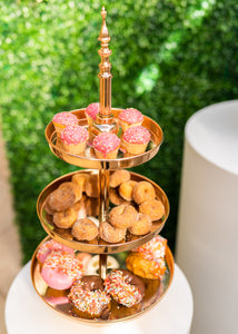 Three Tiered Cake Stand - Gold