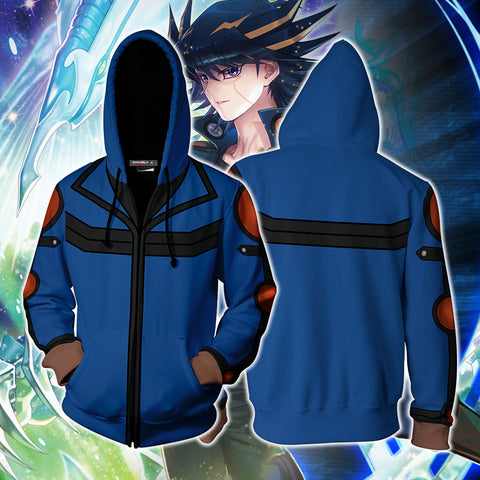 Yu-Gi-Oh! Fudo Yusei Cosplay New Look Zip Up Hoodie Jacket