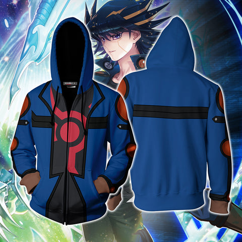 Yu-Gi-Oh! Fudo Yusei Cosplay Zip Up Hoodie Jacket
