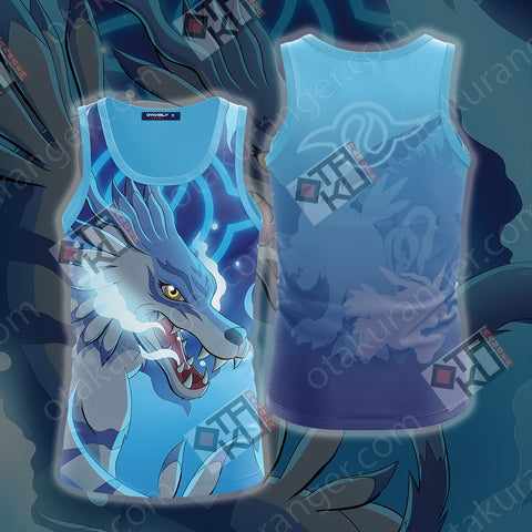 Digimon Garurumon 3D Tank Top