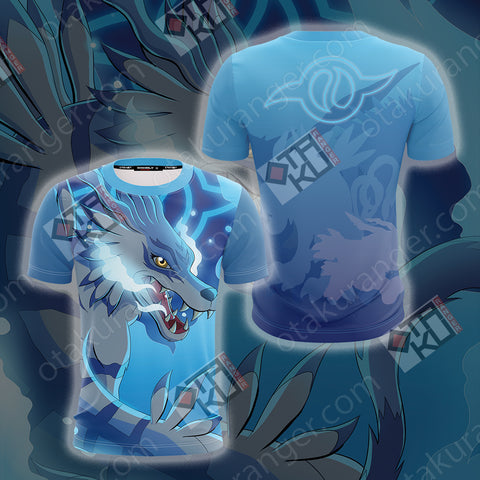 Digimon Garurumon 3D T-shirt