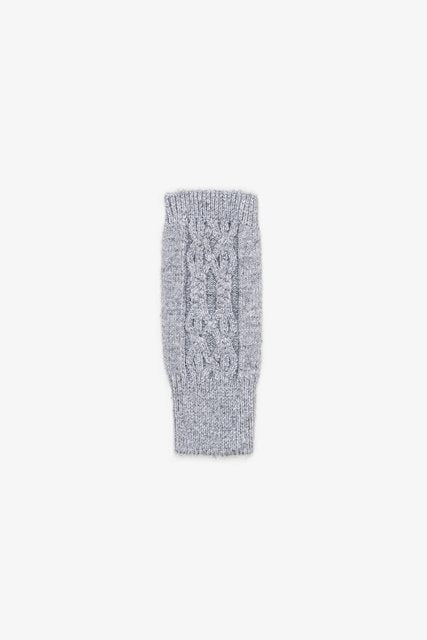 Fingerless Glove | Wool Cable Grey