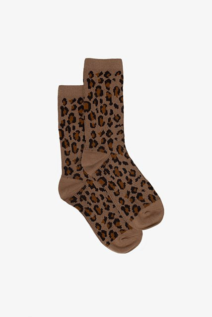 Winter Leopard Sock | Toffee