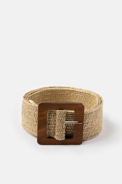 Rattan Belt Square - Tan