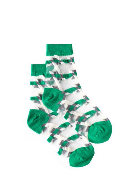 Geo Sheer Sock | Green